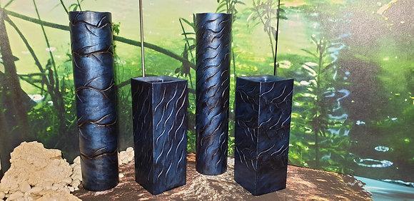 Váza 11x11x30 cm modrá