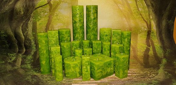 Svíce Jarní zelená 10x10x12