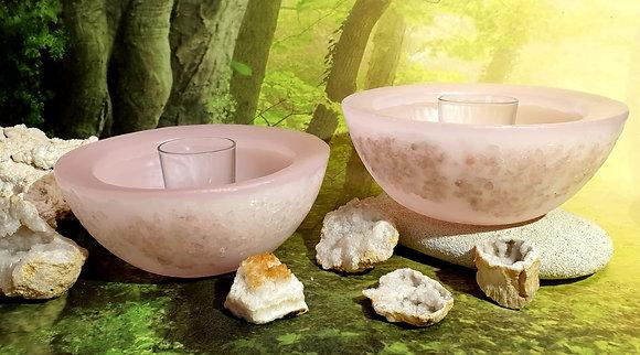 Wellness mísa jemně růžová s drahými kameny
