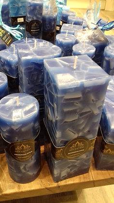 Svíce Blue Dark 7x7x21