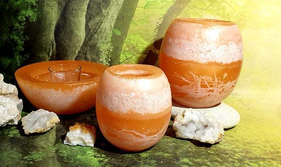 Lampion malý s kameny - meruňkový