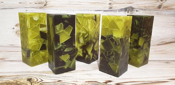 Svíce Mechově zelená 7x7x21