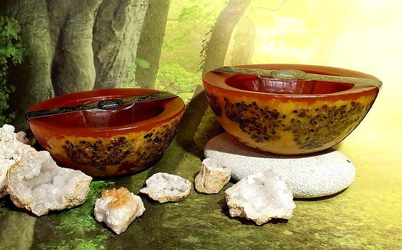 Wellness mísa medová s drahými kameny