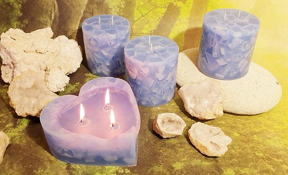 Svíce Ledová Modrá 10x10