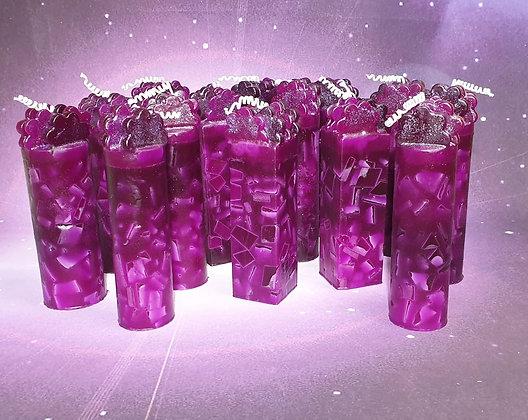 Designová svíce Fuchsie s ozdobou 5x16
