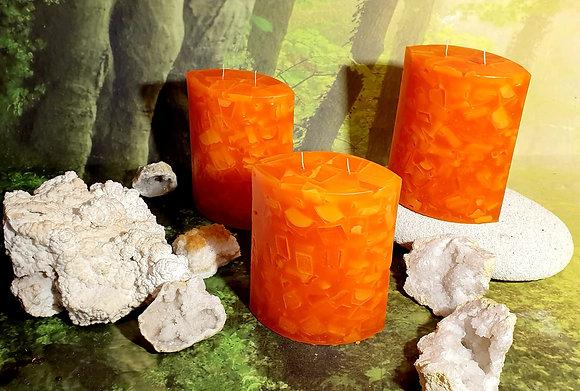 Svíce Červený pomeranč 6x12x16 ELIPSA