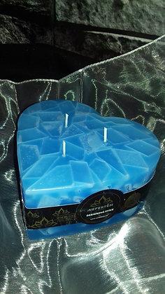Svíce Srdce 16x7 Blue Light