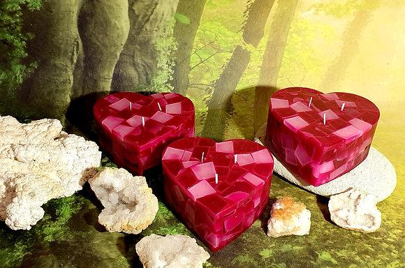 Svíce Srdce 16x7 Rosa