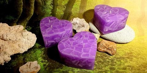 Svíce Srdce 16x7 Violet