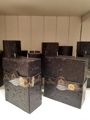 Svíce Černá 7x14x16 KVÁDR