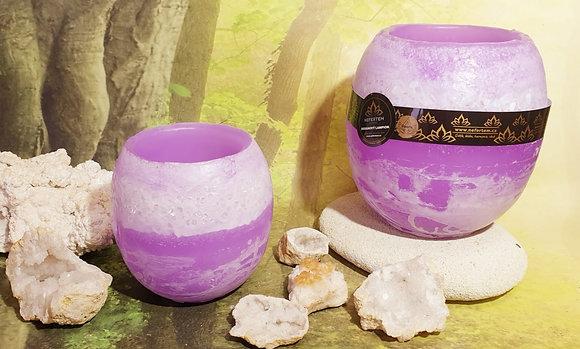 Lampion malý s kameny violet s bílým tónováním