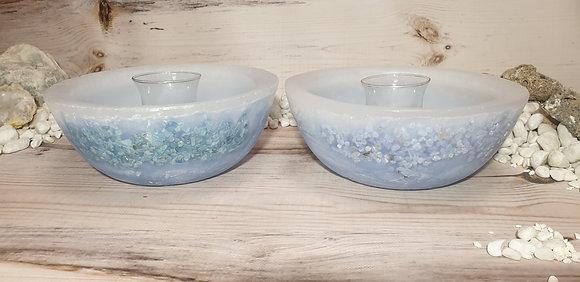 Wellness mísa bílo-modrá s drahými kameny