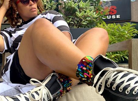 Werk Couture: Sequin socks