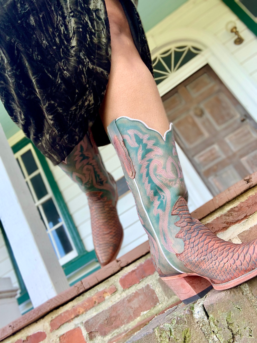 Pink cowboy boots from Nashville