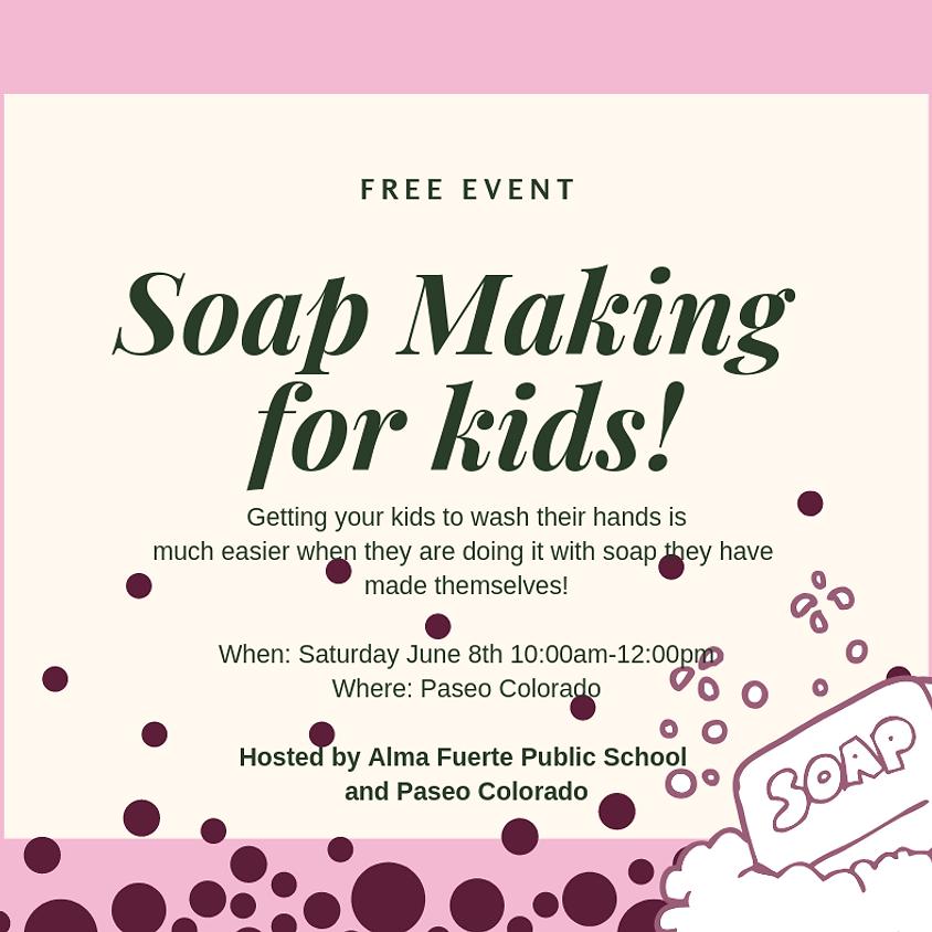 Soapmaking at Paseo Colorado!