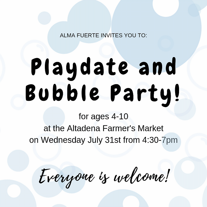 Playdate and Bubble Party