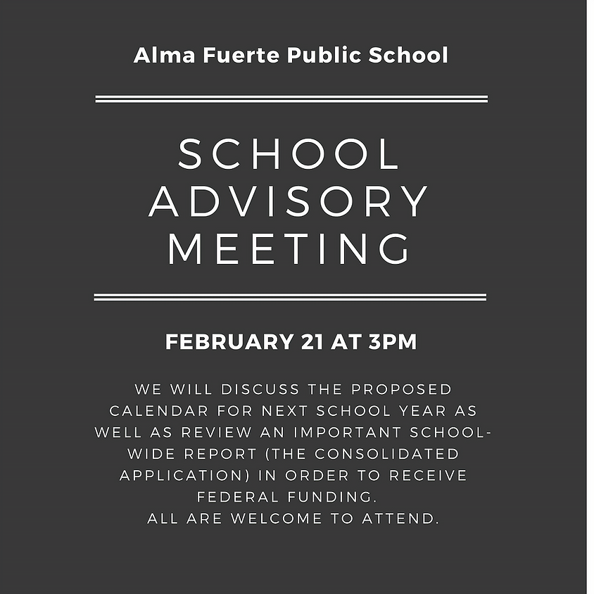 School Advisory Meeting