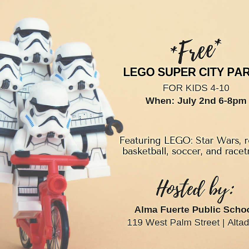 Free Lego Super City Party