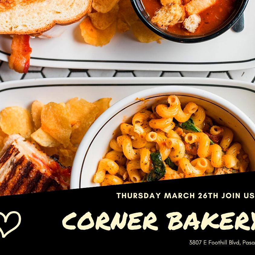 Cancelled: Corner Bakery Night!