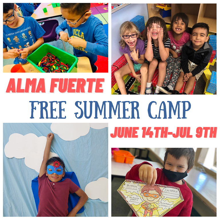 Free Summer Camp for Alma Fuerte Students