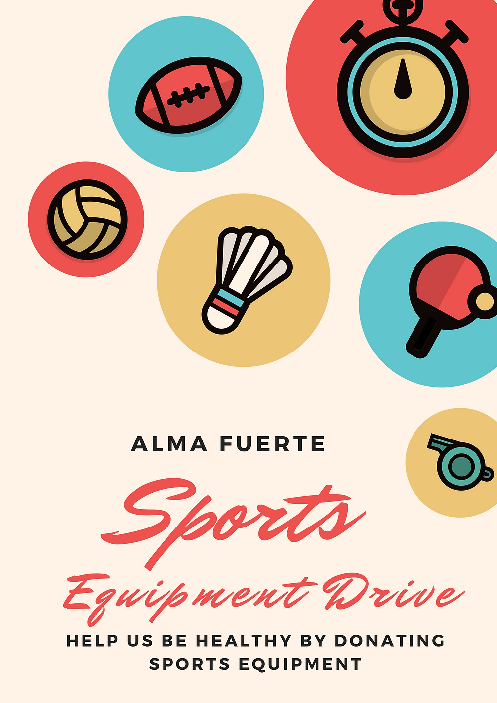 Alma Fuerte Sports Equipment Drive