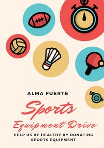 Alma Fuerte Sports Equipment Drive