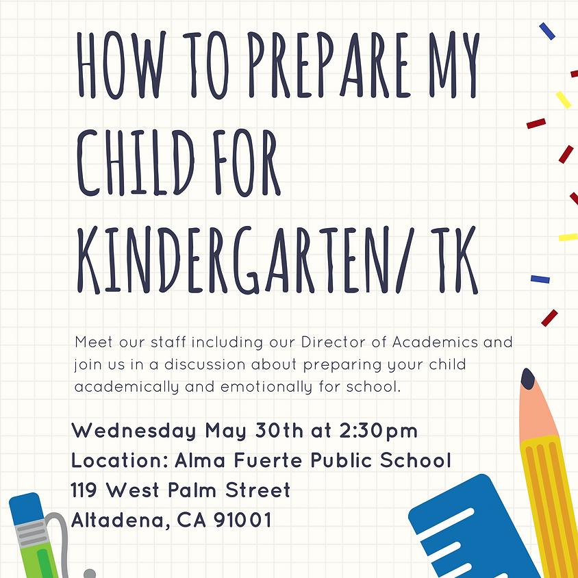 How to Prepare my Child for TK/ Kindergarten