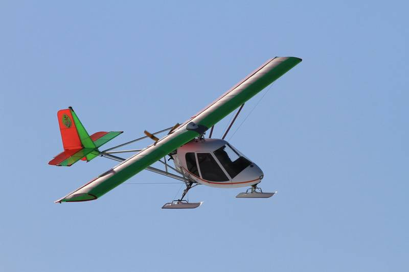 Птене-2 лыжи полет