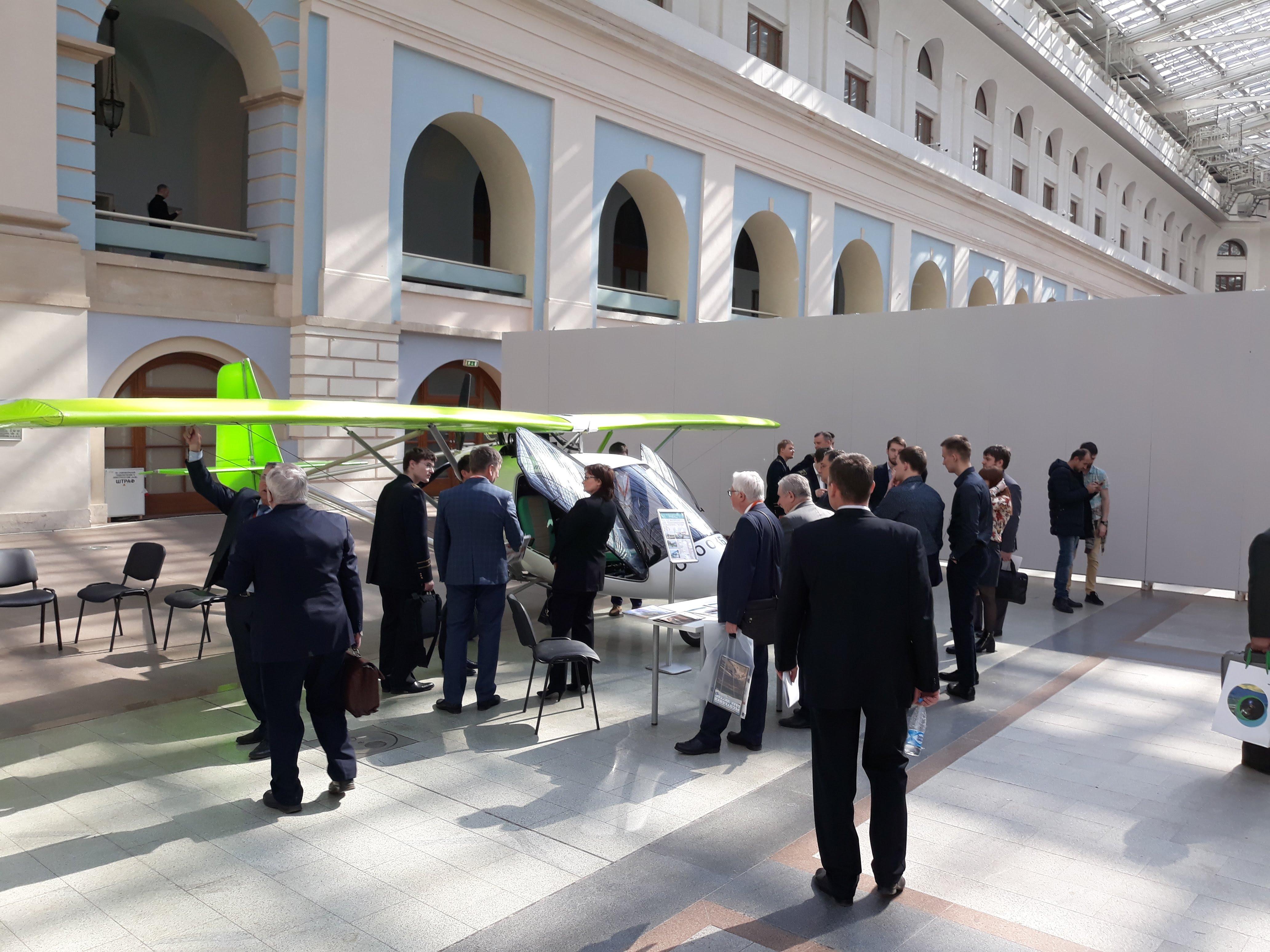 Самолёт Птенец-3 на выставке