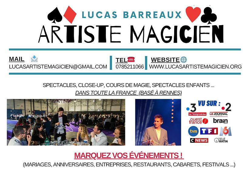 Lucas Barreaux Artiste magicien