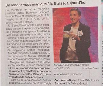 Lucas Barreaux Magicien
