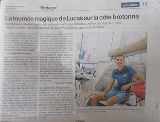 Lucas Barreaux Ouest france bretagne