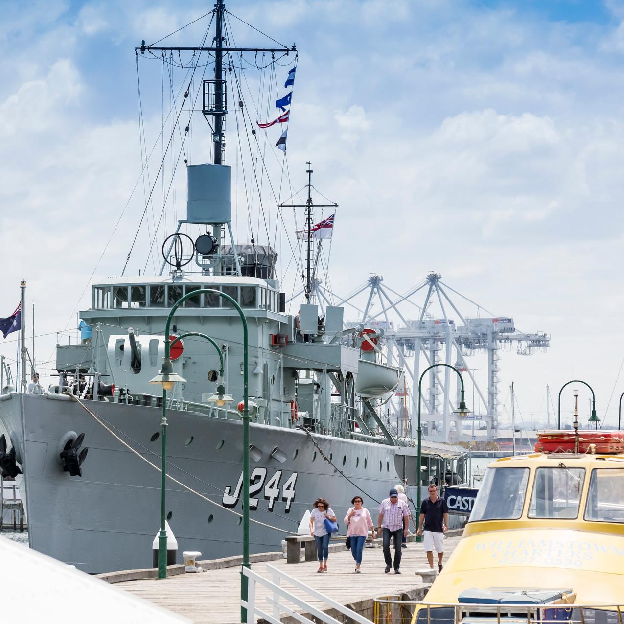HMAS Castlemaine at Williamstown