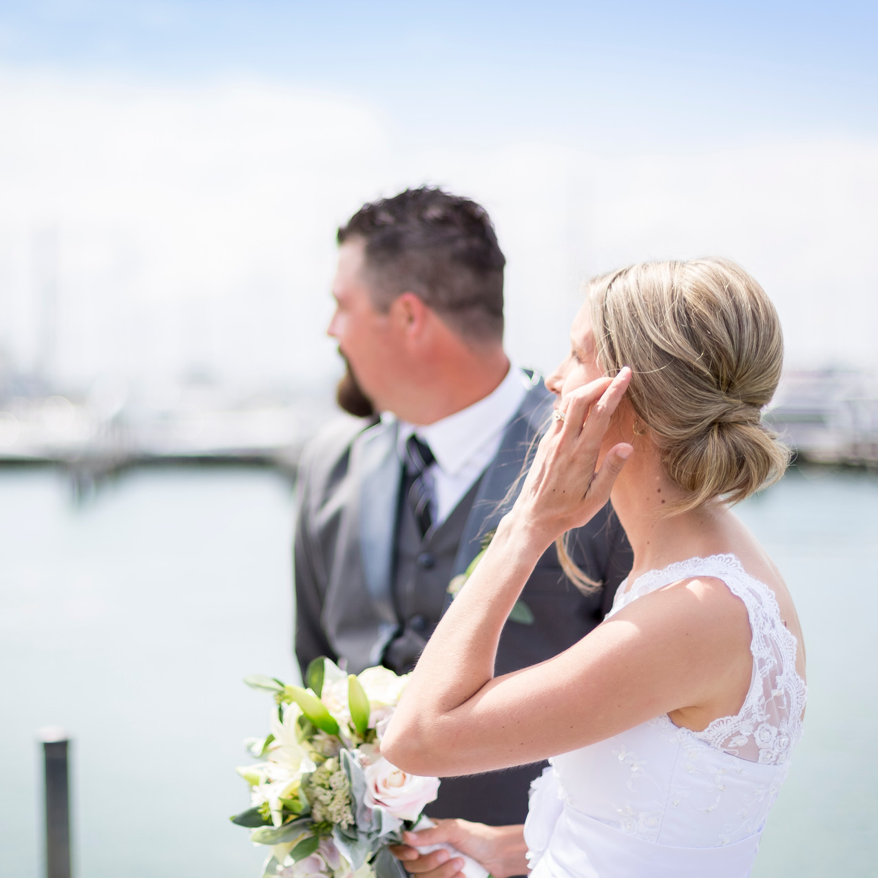 Newlyweds on Port Philip Bay