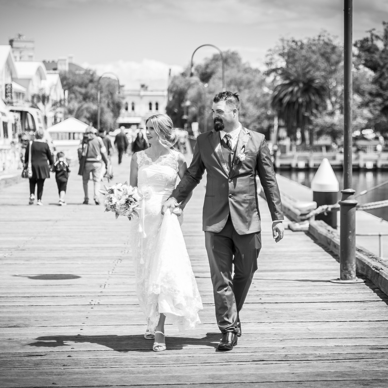 Newlyweds at Williamstown