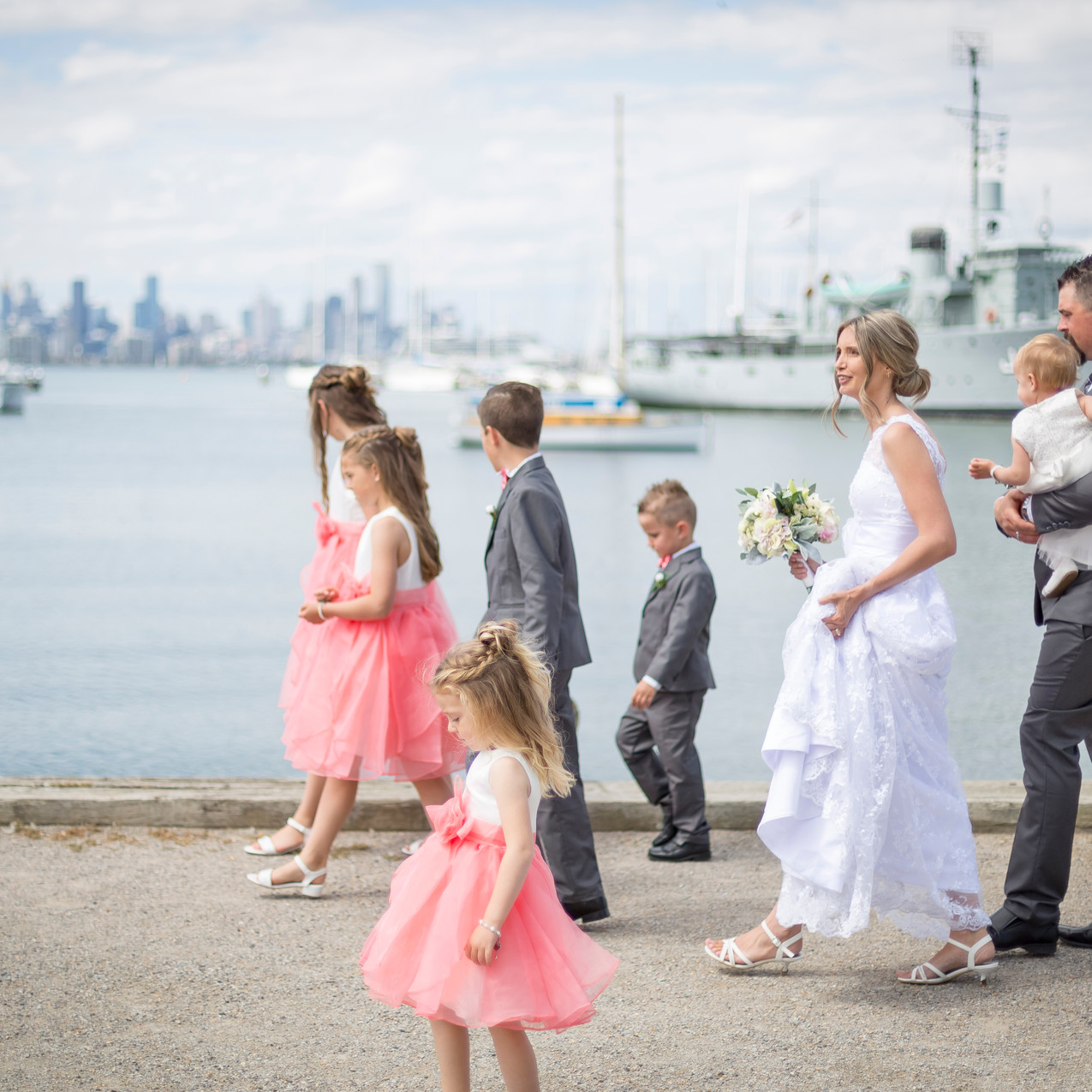 Family at Williamstown Wedding