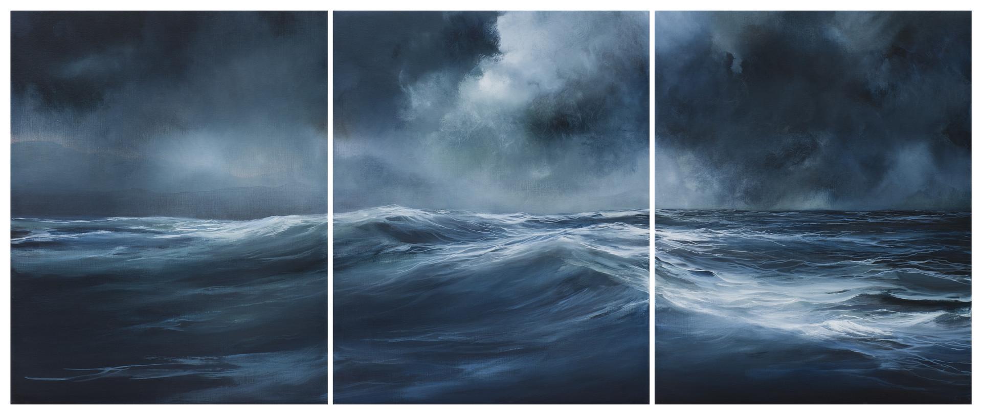 shifting tide | acrylic on belgian linen , 77cm x 180cm | sold