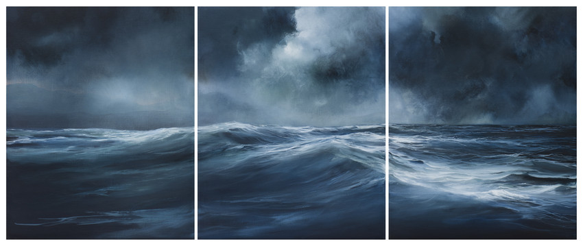 shifting tide | acrylic on belgian linen , 77cm x 180cm | sold