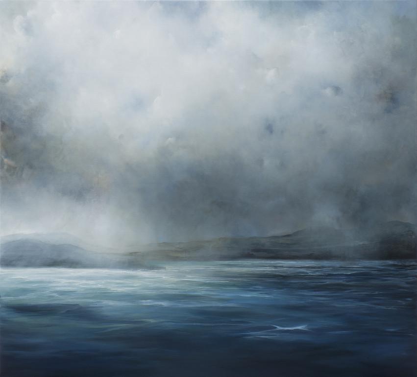 adrift | acrylic on belgian linen , 152cm x 168cm | sold