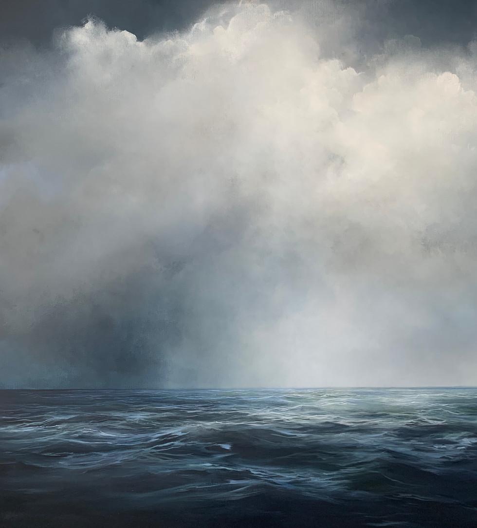 turning point | acrylic on belgian linen , 168cm x 150cm