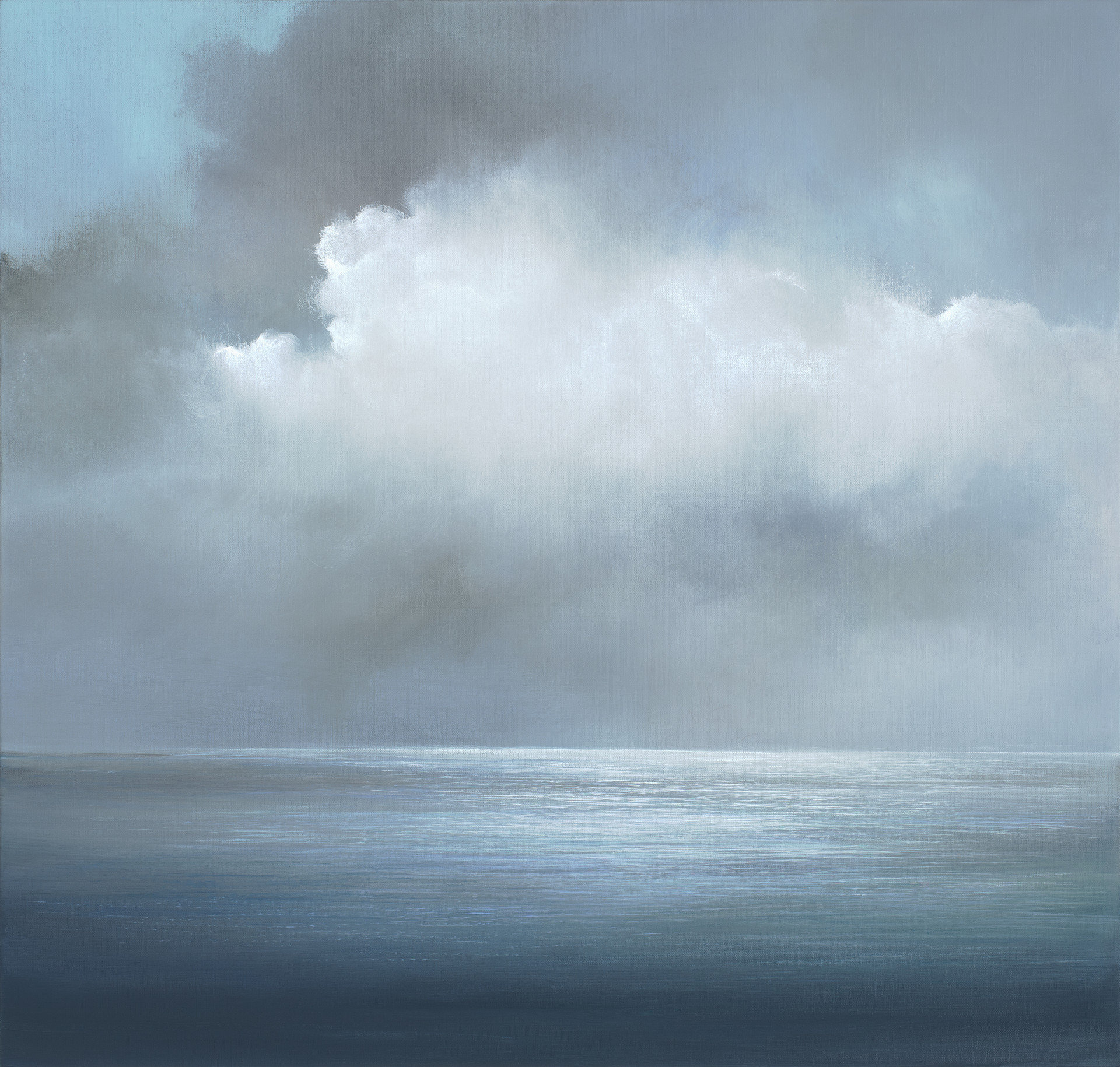 beyond the silver lining | acrylic on belgian linen , 92cm x 96cm | sold