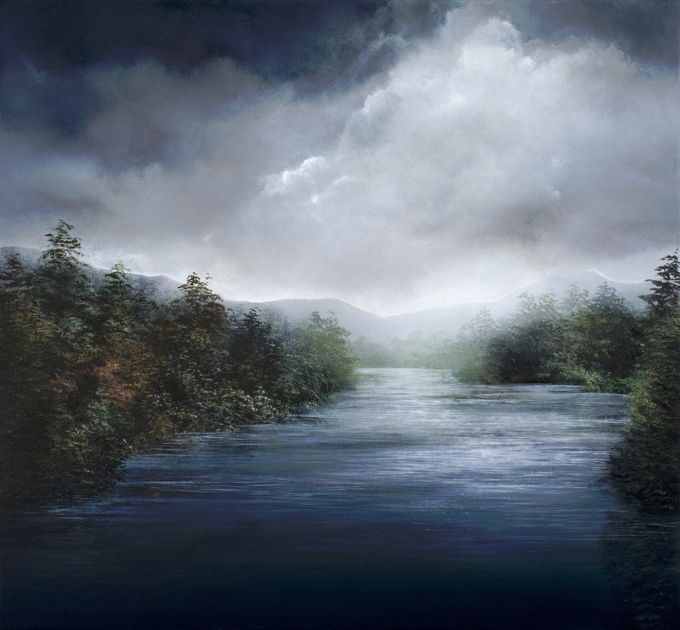 the river lies within | acrylic on belgian linen , 127cm x 137cm | sold