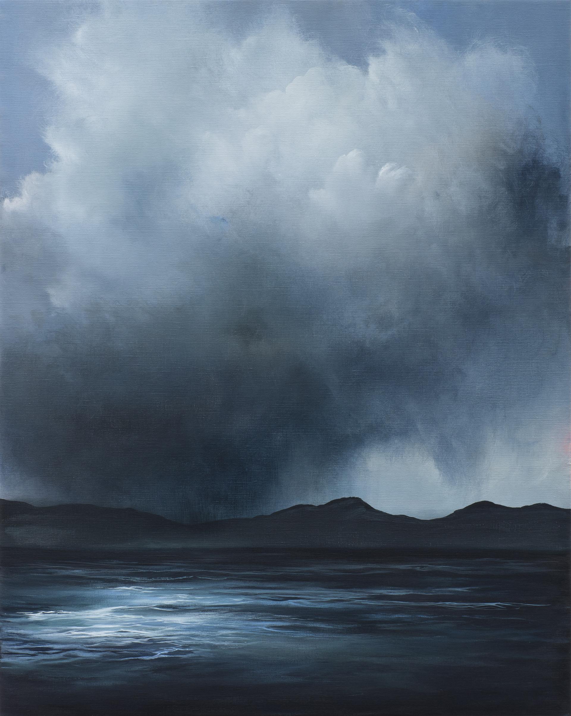 clouded judgement | acrylic on belgian linen , 102cm x 82cm | sold