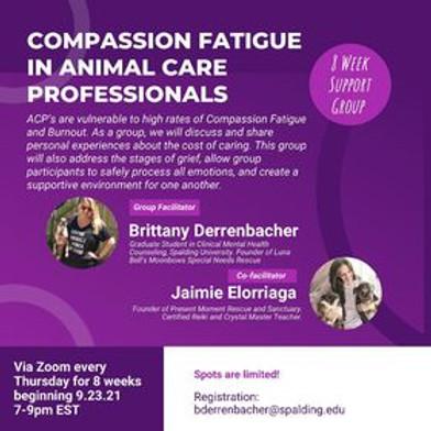 Compassion Fatigue in Animal Care Professionals