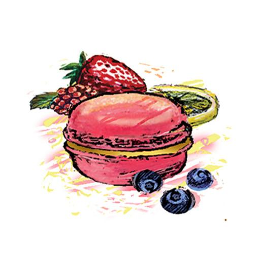 Fruit macarons