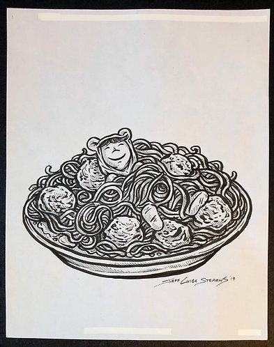 Nori and his Delicious Dreams - Original Page Art - SPAGHETTI