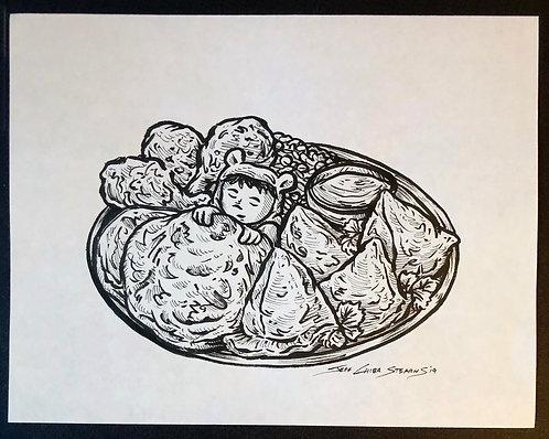 Nori and his Delicious Dreams - Original Page Art - ONION RINGS
