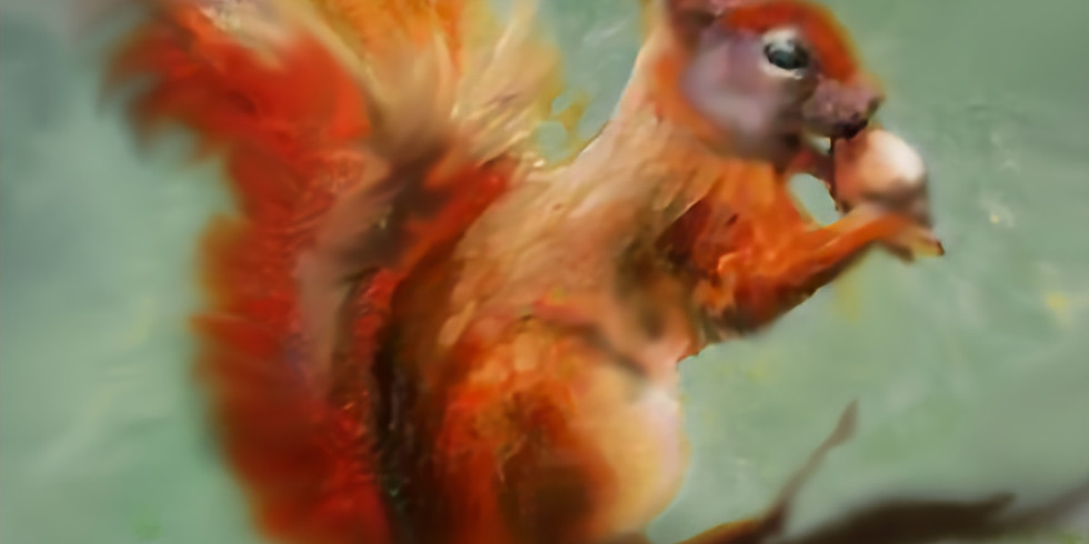 Squirrel Painting 11/14  11-1