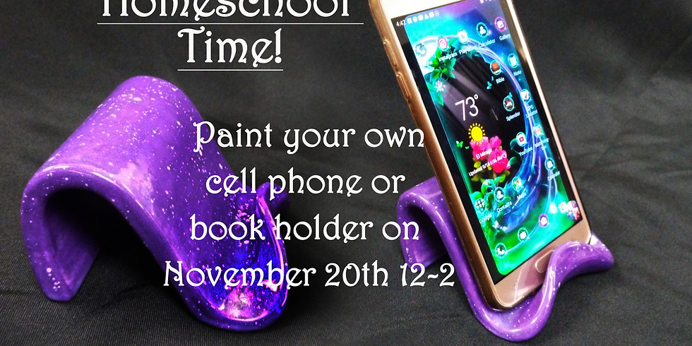 Home School Kids Paint a phone or book holder