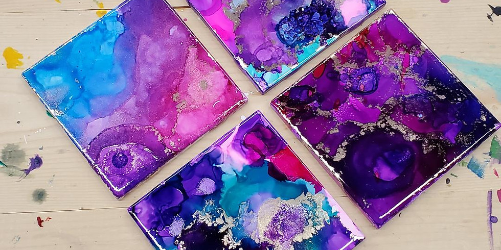 Alcohol Ink Coasters, Friday, 3/13, 6-9pm - Guest Artist!!!